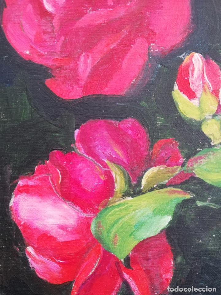 Arte: Antiguo cuadro óleo sobre tablilla - Foto 6 - 154771222