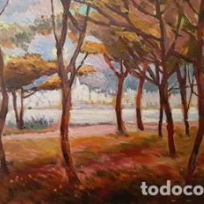 Arte: CUADRO - PINTURA - OLEO SOBRE MADERA - CADAQUES - JOSEP MARFA GUARRO - BARCELONA -. Lote 154771930