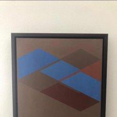 Arte: ADOLFO ESTRADA . ÓLEO SOBRE LIENZO . 40 X 40 CM . FIRMADO Y FECHADO 1973 EN EL REVERSO .. Lote 154805654