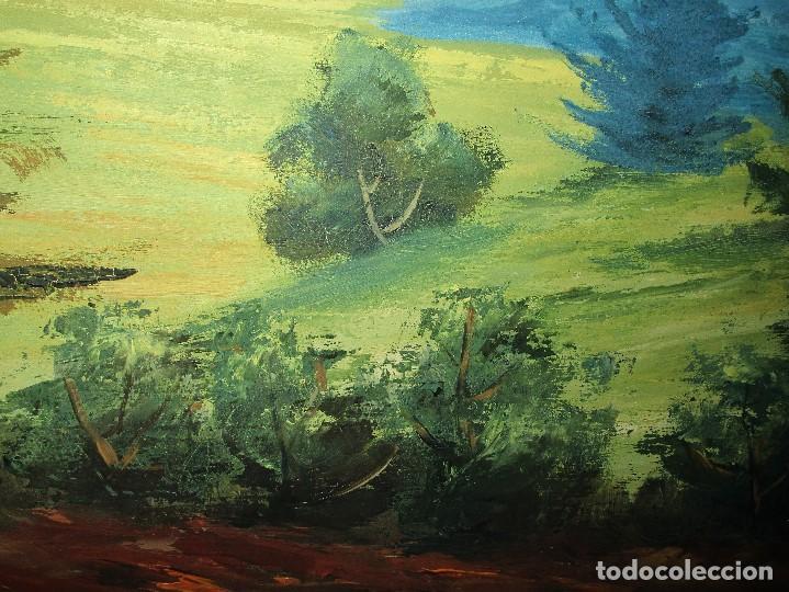 Arte: ANTIGUA PINTURA OLEO FIRMADO procedencia de alicante mediados de siglo pasdado - Foto 7 - 154827966