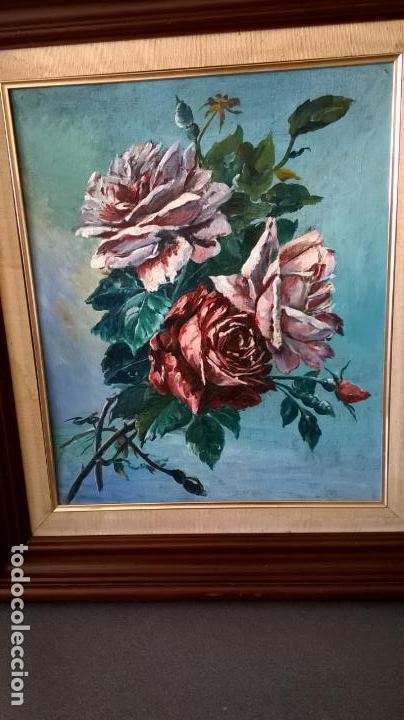 Arte: Pintura al óleo sobre tablero.Medida pintura 38x46.Con marco58x66 - Foto 2 - 154853818