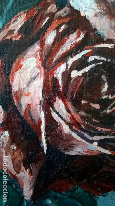 Arte: Pintura al óleo sobre tablero.Medida pintura 38x46.Con marco58x66 - Foto 9 - 154853818