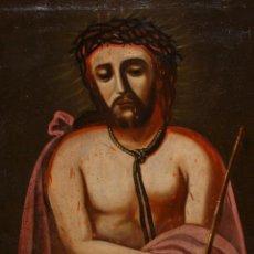Arte: ESCUELA ESPAÑOLA DEL SIGLO XVIII. OLEO SOBRE TELA DE AUTOR ANONIMO. ECCE HOMO. Lote 154889274
