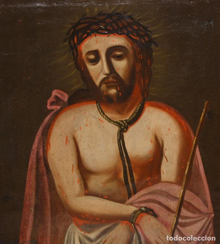 Arte: ESCUELA ESPAÑOLA DEL SIGLO XVIII. OLEO SOBRE TELA DE AUTOR ANONIMO. ECCE HOMO - Foto 2 - 154889274