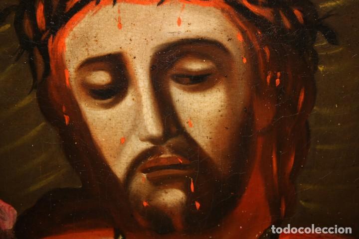 Arte: ESCUELA ESPAÑOLA DEL SIGLO XVIII. OLEO SOBRE TELA DE AUTOR ANONIMO. ECCE HOMO - Foto 7 - 154889274