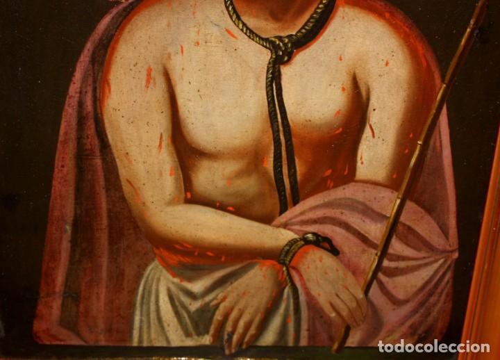 Arte: ESCUELA ESPAÑOLA DEL SIGLO XVIII. OLEO SOBRE TELA DE AUTOR ANONIMO. ECCE HOMO - Foto 8 - 154889274