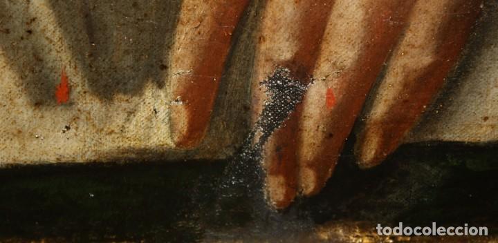 Arte: ESCUELA ESPAÑOLA DEL SIGLO XVIII. OLEO SOBRE TELA DE AUTOR ANONIMO. ECCE HOMO - Foto 9 - 154889274