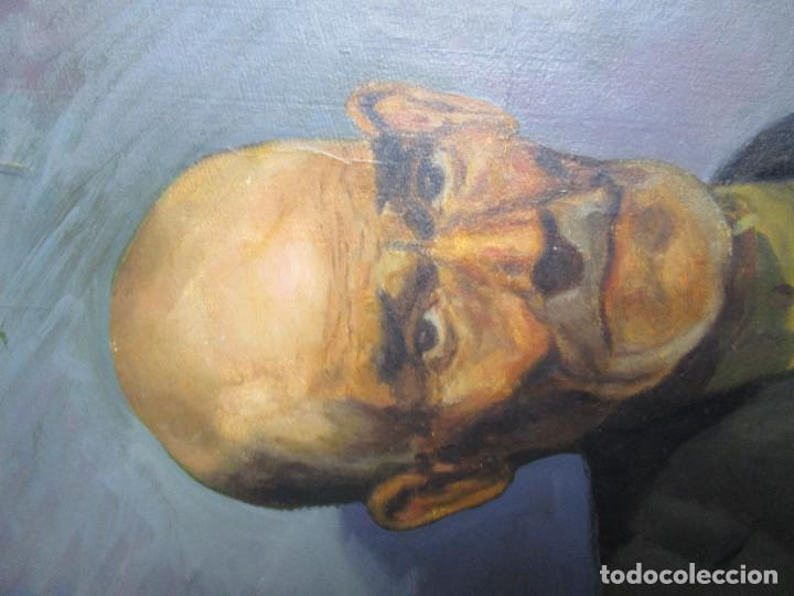 Arte: LUIS HERRANZ ZABAL CUADRO AL OLEO RETRATO ANCIANO, ARAGON SALOU - Foto 2 - 154899822