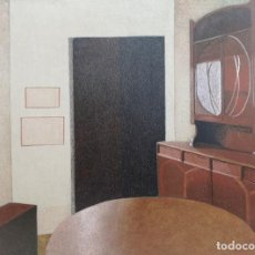 Arte: ELENA GAGO (A CORUÑA 1940 - 2011). LA SALITA. TÉCNICA MIXTA SOBRE TABLA. Lote 154934234