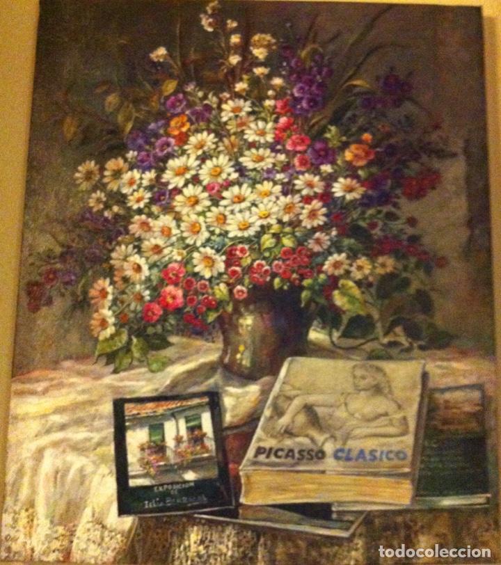 FLORES Y LIBROS DE CELIA BERROCAL (Arte - Pintura - Pintura al Óleo Contemporánea )