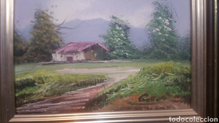 PINTURA PAISAJÍSTICA ANTIGUA CONFIRMA DE PINTOR (Art - Painting - Contemporary Painting)