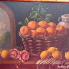 Arte: BODEGÓN ÓLEO S/LIENZO S. XIX, MUY BIEN ENMARCADO, FIRMADO.- BERNOIS. DIM.- 100X78.5 CMS. Lote 155015142