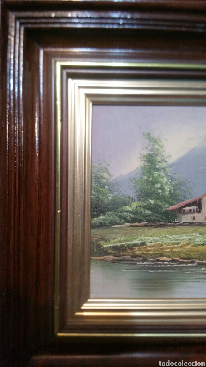 Art: Cuadro paisajistico antiguo con firma de pintor - Foto 5 - 155015890