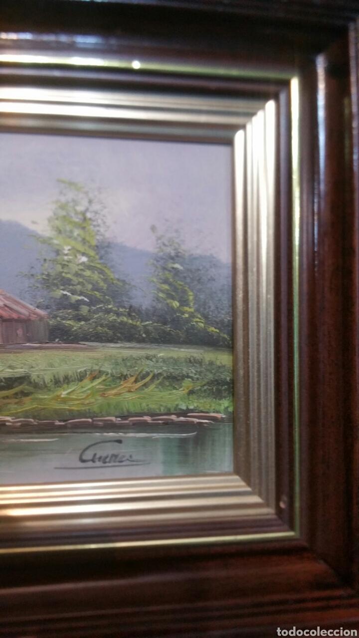 Art: Cuadro paisajistico antiguo con firma de pintor - Foto 9 - 155015890
