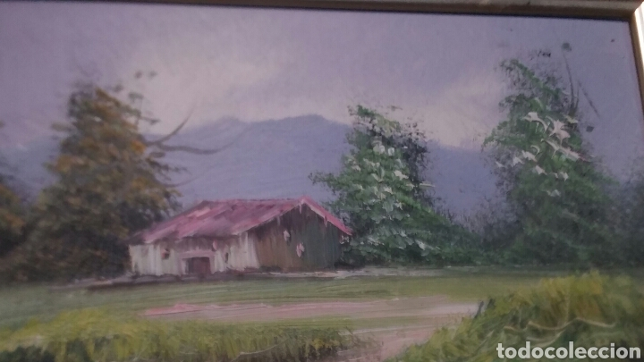 Art: Cuadro paisajistico antiguo con firma de pintor - Foto 2 - 155016389