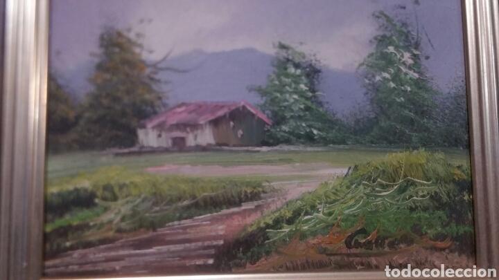 Art: Cuadro paisajistico antiguo con firma de pintor - Foto 4 - 155016389