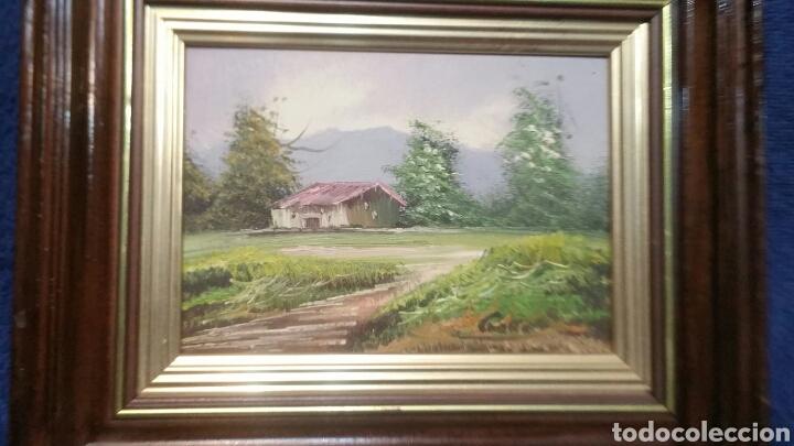 Art: Cuadro paisajistico antiguo con firma de pintor - Foto 6 - 155016389
