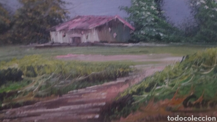Art: Cuadro paisajistico antiguo con firma de pintor - Foto 7 - 155016389