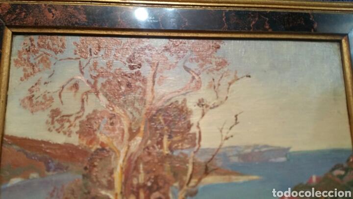 Art: Pintura paisajística costera utiliza la técnica óleo sobre madera - Foto 2 - 155017689