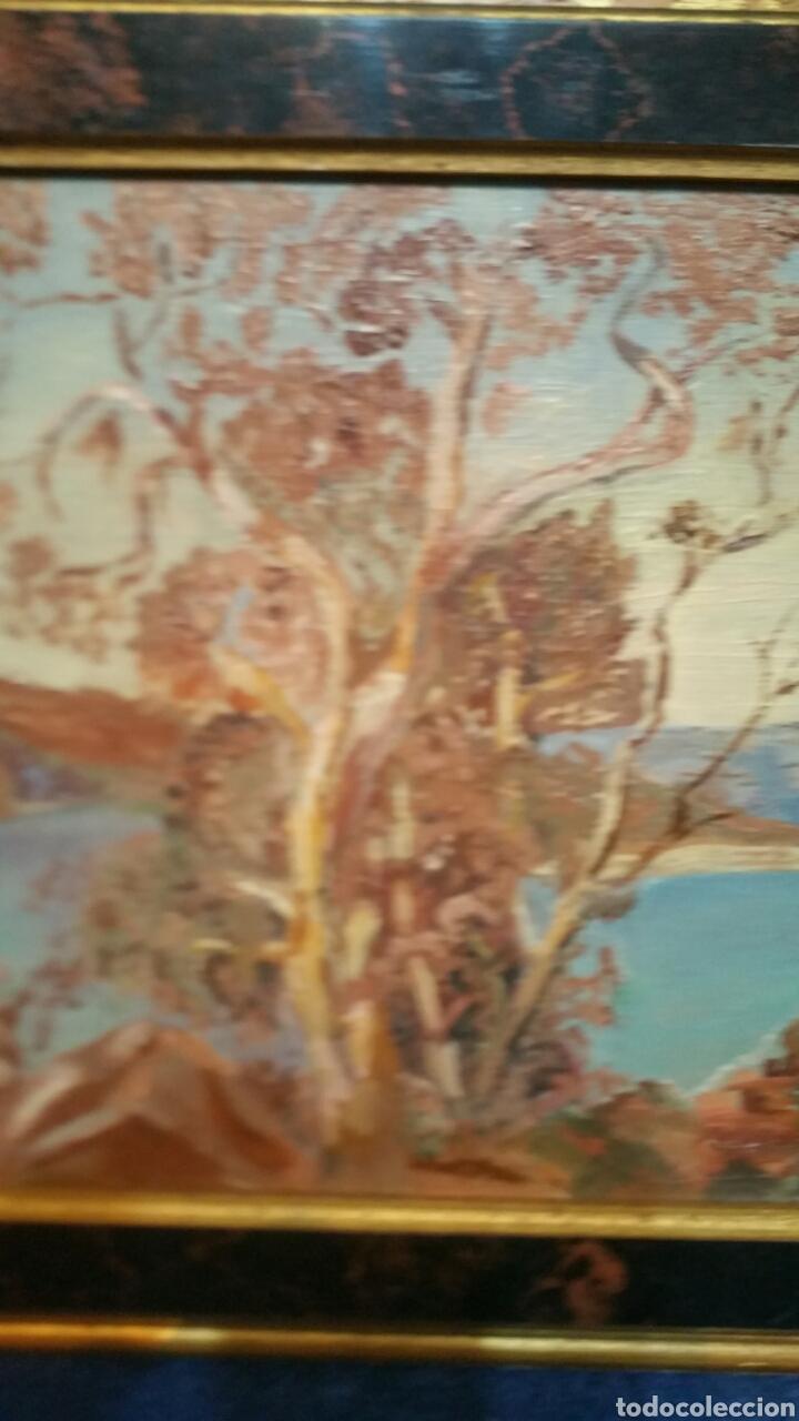 Art: Pintura paisajística costera utiliza la técnica óleo sobre madera - Foto 3 - 155017689