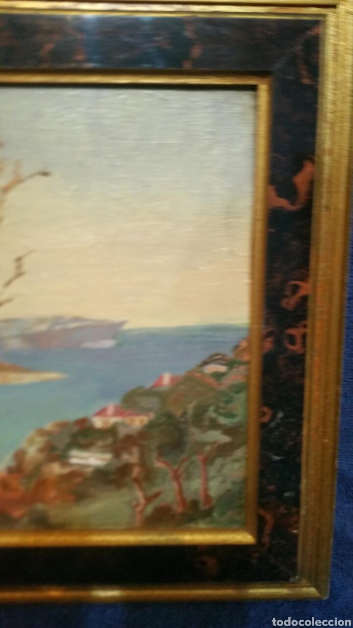 Art: Pintura paisajística costera utiliza la técnica óleo sobre madera - Foto 4 - 155017689