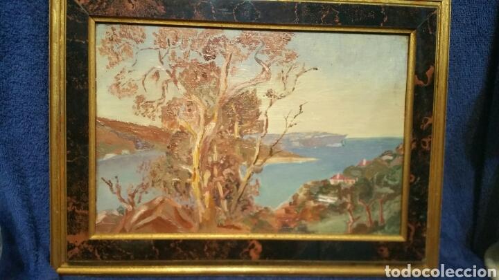 Art: Pintura paisajística costera utiliza la técnica óleo sobre madera - Foto 5 - 155017689