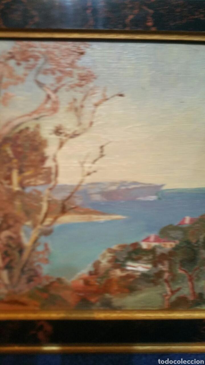 Art: Pintura paisajística costera utiliza la técnica óleo sobre madera - Foto 6 - 155017689