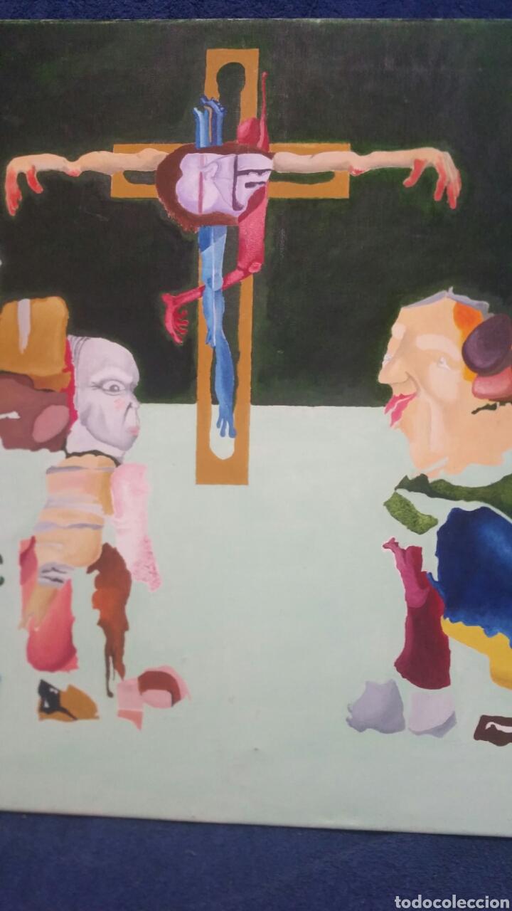 Art: Pintura abstracta de la crucifixión de Cristo - Foto 3 - 155018538