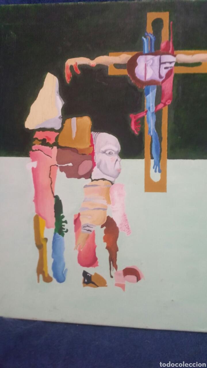 Art: Pintura abstracta de la crucifixión de Cristo - Foto 5 - 155018538