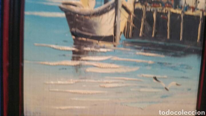 Art: Pintura de Marina al óleo sobre madera - Foto 2 - 155020965
