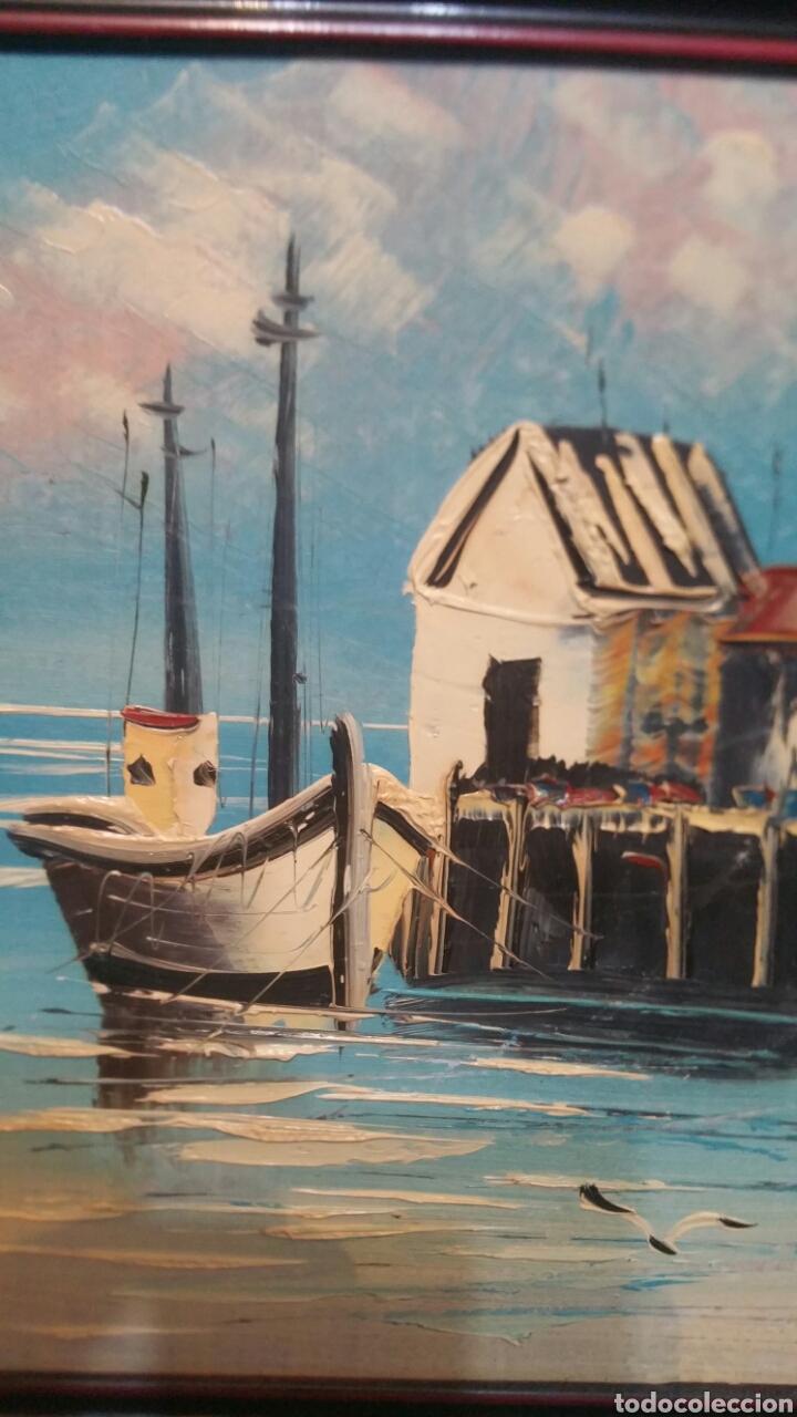 Art: Pintura de Marina al óleo sobre madera - Foto 3 - 155020965