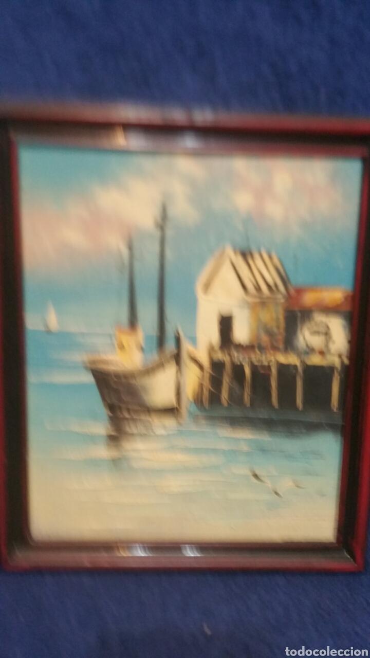 Art: Pintura de Marina al óleo sobre madera - Foto 4 - 155020965