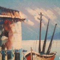 Arte: PINTURA DE MARINA UTILIZANDO LA TÉCNICA ÓLEO SOBRE MADERA. Lote 155021117