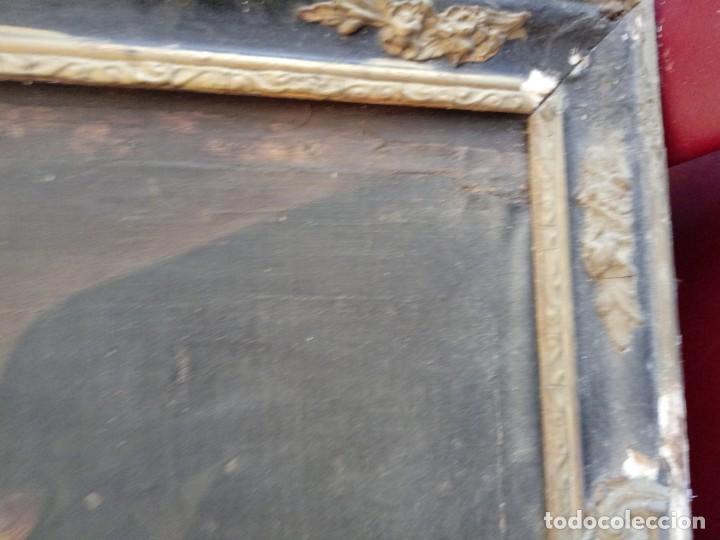Arte: cuadro oleo antiguo señora - Foto 2 - 155038286