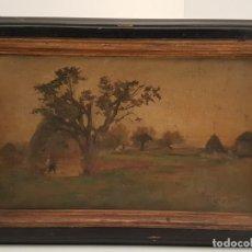 Arte: TORRESCASSANA I SALLARES, (1845-1918), OLEO SOBRE TELA, (PARA LIMPIAR Y RESTAURAR), (40X24). Lote 155133094