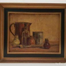 Arte: MIQUEL SOLDEVILA VALLS, (1886-1956), OLEO SOBRE TELA, MUSEO PRATS DE LLUÇANES, (34X26). Lote 155134494