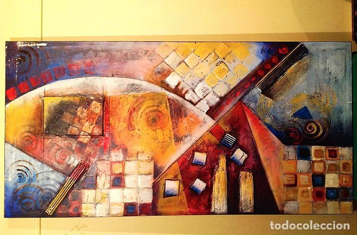 CUADRO ÓLEO ARTE EXPRESIONISTA ORIGINAL MEDIDAS 120X60CM (Arte - Pintura - Pintura al Óleo Moderna sin fecha definida)