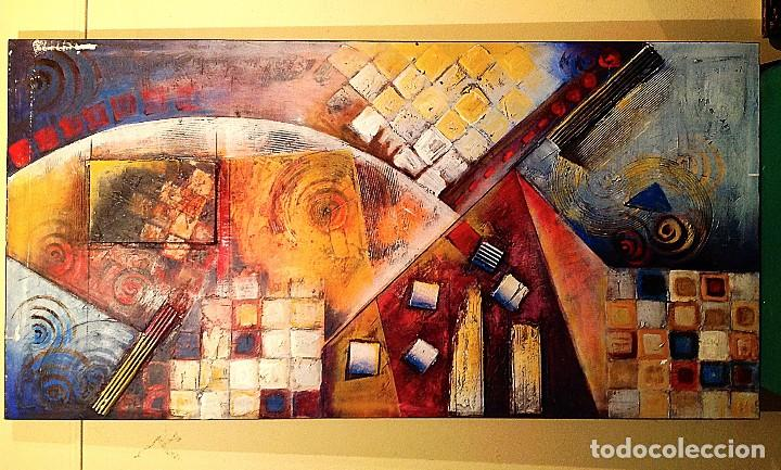 Arte: Cuadro Óleo Arte Expresionista Original Medidas 120X60CM - Foto 3 - 155134686