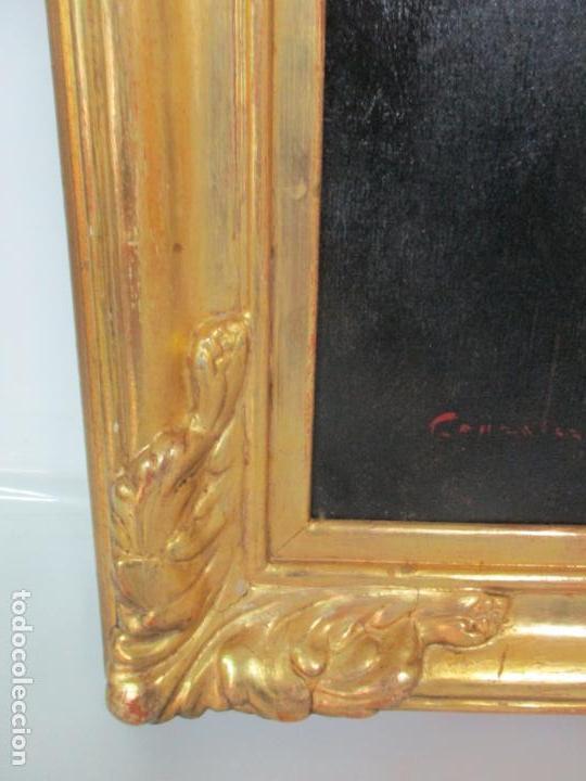 Arte: Óleo sobre Tela - Retrato - Marcos de Madera Dorados - Firma R. Gonzalez Carbonell (1910-1984) - Foto 9 - 155138350