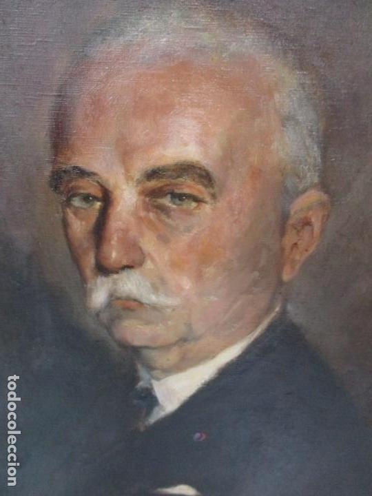 Arte: Óleo sobre Tela - Retrato - Marcos de Madera Dorados - Firma R. Gonzalez Carbonell (1910-1984) - Foto 17 - 155138350