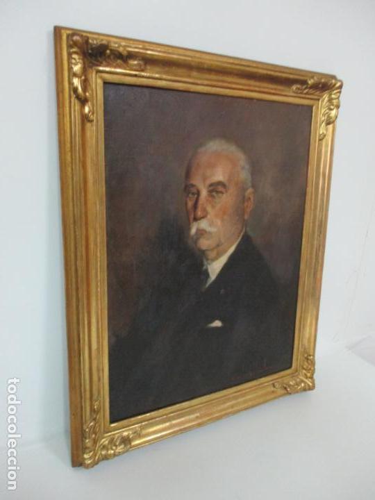 Arte: Óleo sobre Tela - Retrato - Marcos de Madera Dorados - Firma R. Gonzalez Carbonell (1910-1984) - Foto 18 - 155138350