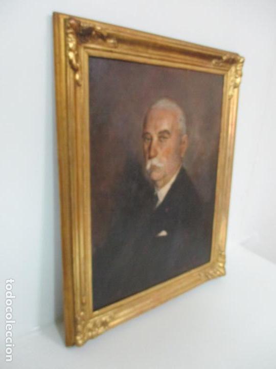Arte: Óleo sobre Tela - Retrato - Marcos de Madera Dorados - Firma R. Gonzalez Carbonell (1910-1984) - Foto 22 - 155138350