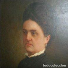 Arte: ÄLVAREZ SALA, VENTURA. ÓLEO SOBRE LIENZO. RETRATO DE DAMA DESCONOCIDA. Lote 155160618