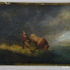 Arte: OLEO SOBRE CARTÓN DESPUES DE HEINRICH BÜRKEL, 1802 - 1869 DE MUSEO.. Lote 155188402