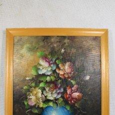 Arte: BODEGON - FLORES - ORIGINAL - FIRMADO - OLEO - LIENZO. Lote 155191590