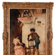 Arte: FELIX INIESTA SOTO (MÁLAGA, 1863) GALANTEO ANDALUZ, SIGLO XIX. Lote 155201586