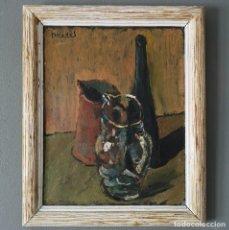 Arte: OLEO SOBRE TABLA FIRMADO PRADES ?? FECHADO 1948 BODEGON POST IMPRESIONISTA ESCUELA ESPAÑOLA. Lote 155252646