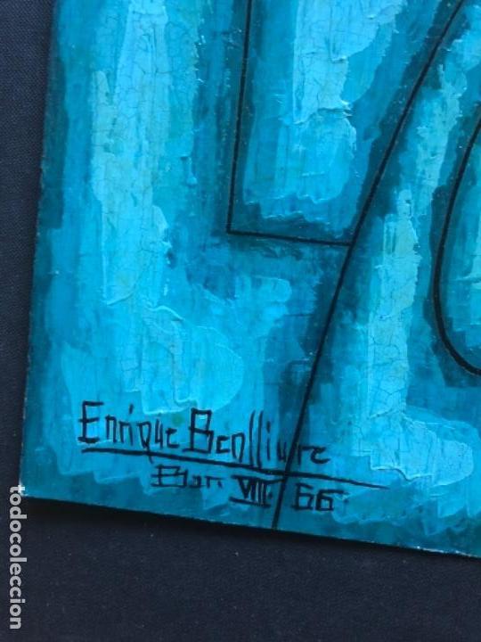 Arte: ENRIQUE BENLLIURE ALVAREZ (Madrid,1919-2005) TÉCNICA MIXTA. SOBRE CARTULINA DEL AÑO 1966 . RETRATO - Foto 2 - 155266334