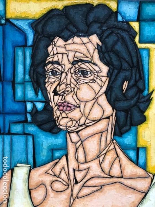 Arte: ENRIQUE BENLLIURE ALVAREZ (Madrid,1919-2005) TÉCNICA MIXTA. SOBRE CARTULINA DEL AÑO 1966 . RETRATO - Foto 3 - 155266334