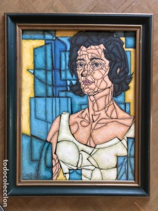 Arte: ENRIQUE BENLLIURE ALVAREZ (Madrid,1919-2005) TÉCNICA MIXTA. SOBRE CARTULINA DEL AÑO 1966 . RETRATO - Foto 4 - 155266334